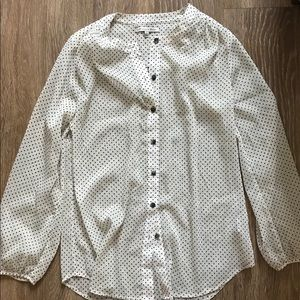 Polka dots blouse / madewell broadway and brioome